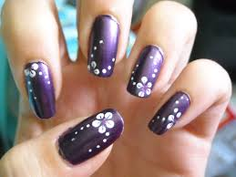20 purple wedding nail designs purple toe nails with rhinestones