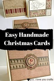 easy handmade christmas cards u2014 day to day adventures