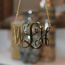 2 inch monogram necklace oval vine script monogram necklace be monogrammed