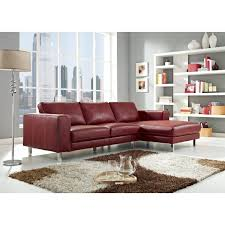 Top Grain Leather Sectional Sofas Anika Top Grain Leather Sectional Sofa Sectional Sofas