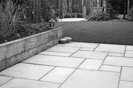white garden slabs the gardens