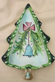 Ceramic Christmas Tree Decorations - vintage holt howard japan hand painted ceramic christmas tree dishes