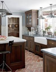 Glamorous Kitchen Wall Colors With Brown Cabinets - Brown cabinets kitchen
