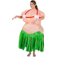 Halloween Adults Costumes Inflatable Hula Costume