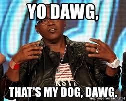Meme Generator Yo Dawg - yo dawg that s my dog dawg randy jackson meme generator