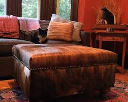 cowhide furniture etsy