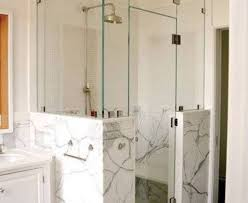 shower amazing of half glass shower wall 17 best images about