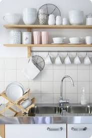 storage and organization open shelving kitchen storage solution
