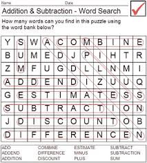 math word search worksheets u0026 similiar word search puzzles