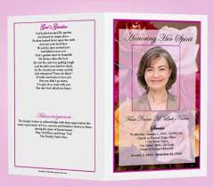 Free Funeral Programs The Funeral Program Site Free Template Download When It U0027s Time