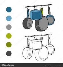 coloriage ustensiles de cuisine livre de coloriage ustensiles de cuisine image vectorielle