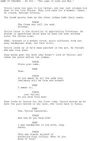 Sample Loan Processor Resume U0026apos Game Of Thrones U0026apos Check Out The Script For Tyrion U0026apos