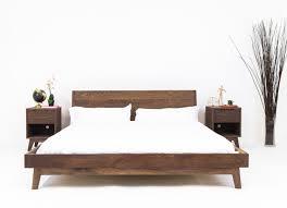 King Bed Frame With Headboard Modern Bed Platform Bed Walnut Bed Midcentury Modern Bed