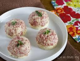 canape de pasta para canapés salame queso en mi cocina hoy