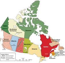 Map Of Canada Showing Calgary by Download Map Of Canada With Capitals And Provinces Major Tourist