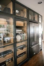 glass door kitchen cabinet with drawers vintage industrial kitchen cabinets with wooden pull out