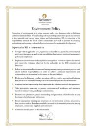 health safety u0026 environment reliance industries limited