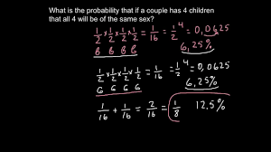 genetics law of probability rules of multiplication and addition