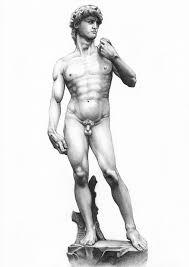 anatomy study david di michelangelo full length by ahitenea on