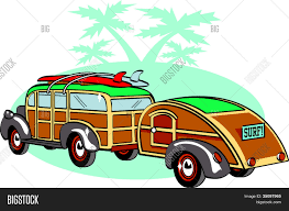 vintage surf car vintage station wagon clipart vector u0026 photo bigstock