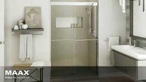 aura shower door maax bath inc youtube