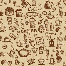 coffee shop background design coffee time seamless background for your design royalty free