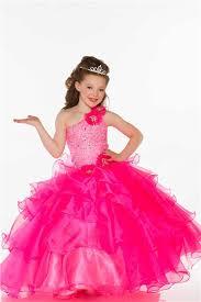 one shoulder pink organza ruffle beaded little prom dress