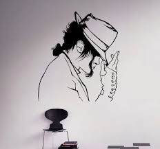 wall decal michael jackson vinyl sticker king of pop star art wall decal michael jackson vinyl sticker king of pop star art decor music home interior room retro mural design in wall stickers from home garden on