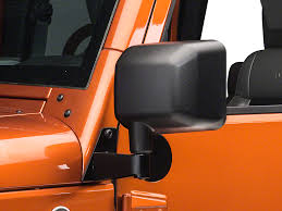 jeep wrangler mirrors rugged ridge wrangler black mirror relocation brackets pair