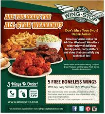 5 wings free with your 20pc at wingstop coupon via the coupons app