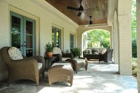 wicker ceiling fans porch tropical with garden seating rattan