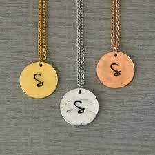 initials jewelry personalised initial necklace hammered necklace 3 colors initials