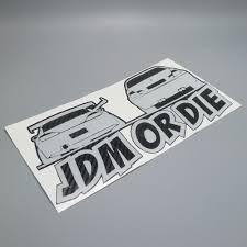 jdm mitsubishi logo car stickers jdm or die car 25cm x 13cm reflective white carbon