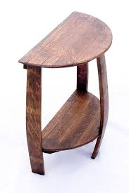 Oak End Table Wine Barrel Half Round End Table
