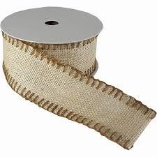 jute ribbon burlap color jute ribbon roll with edge stitching