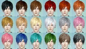 sims 4 blue hair 3kan4on the sims4 male female hair kewai dou