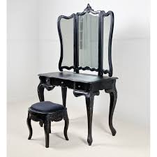 Antique Vanity With Mirror And Bench - gothic vintage vanity table with mirror and bench demonstrated