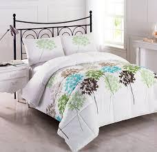 Grey Down Comforter Cozy Beddings Allium 3 Piece Reversible Down Alternative Floral