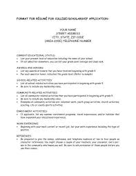 resume header college scholarship resume template best resume collection
