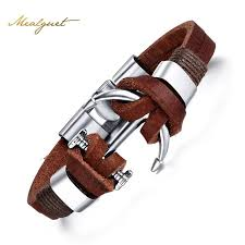 leather bracelet with anchor images Leather bracelet alloy anchor bracelet back country world jpg
