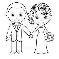 dessin mariage coloriage mari et mariée a imprimer gratuit coloriage enfants