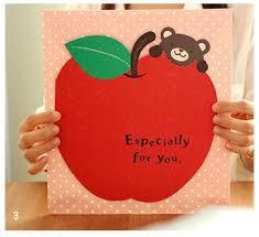korean strawberry apple signature card thank a