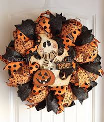 How To Make Halloween Wreaths by Halloween Wreath Ghost Wreath Burlap Wreath Pumpkin Wreath Boo