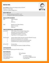 Examples Of Resumes 8 Sample Curriculum Vitae For Job by 8 Sample Of Cv For Job Application Dtn Info