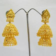 jhumka earrings layered gold plated jhumka earrings indian costume