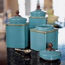 blue kitchen canister kitchen canisters set foter