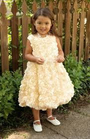 flower dress girls gold dress toddler dress baby dress