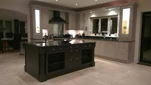 Bespoke Kitchen Island Hand Painted Bespoke Inframe Canadian Slate Black Island U0026 Grey