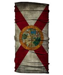 Florida State Flag Image State Of Florida Flag Neck Gaiter Face Shield Born Of Water