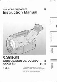 canon camcorder uc9500 user guide manualsonline com